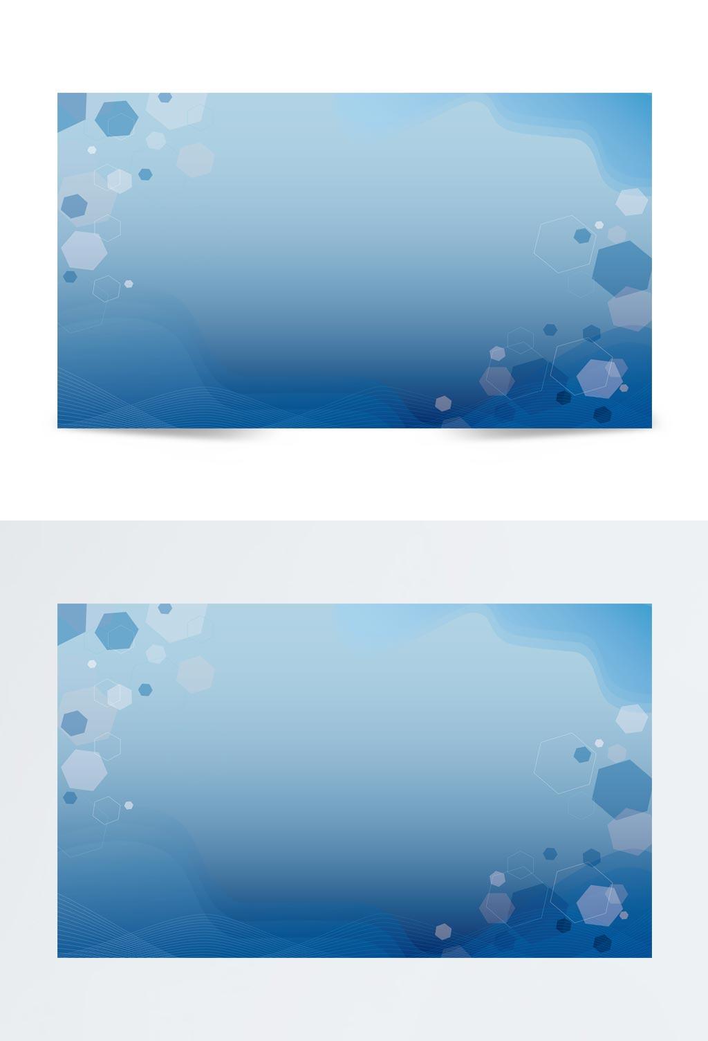 蓝色商务风商业科技通用背景