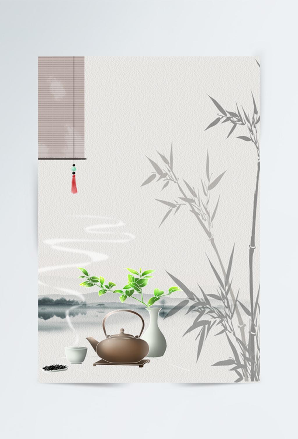 中国风中国茶背景