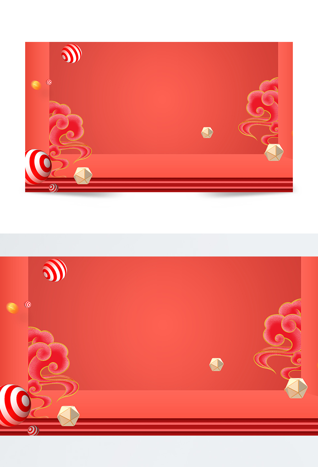 红色节日舞台元素背景