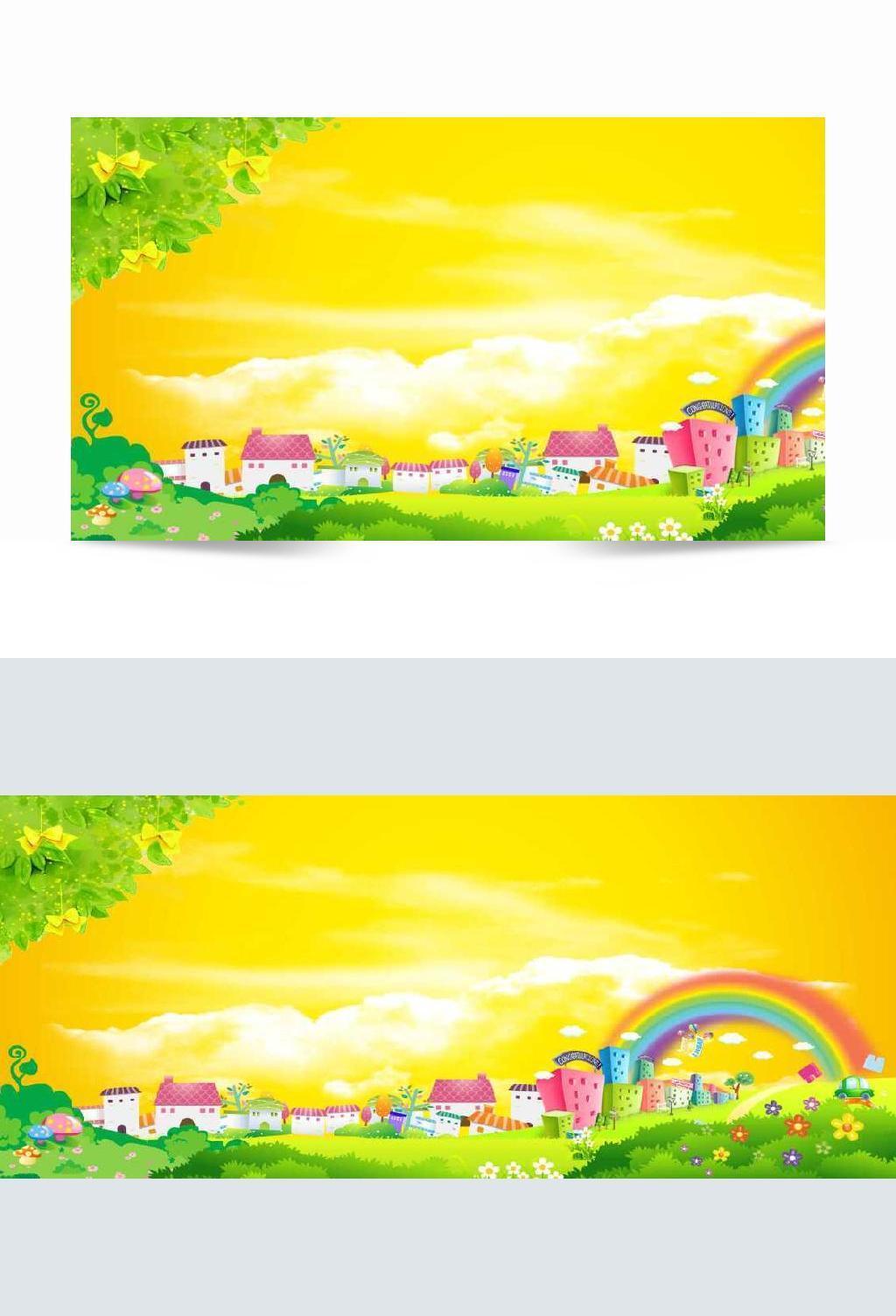 儿童节卡通舞台背景