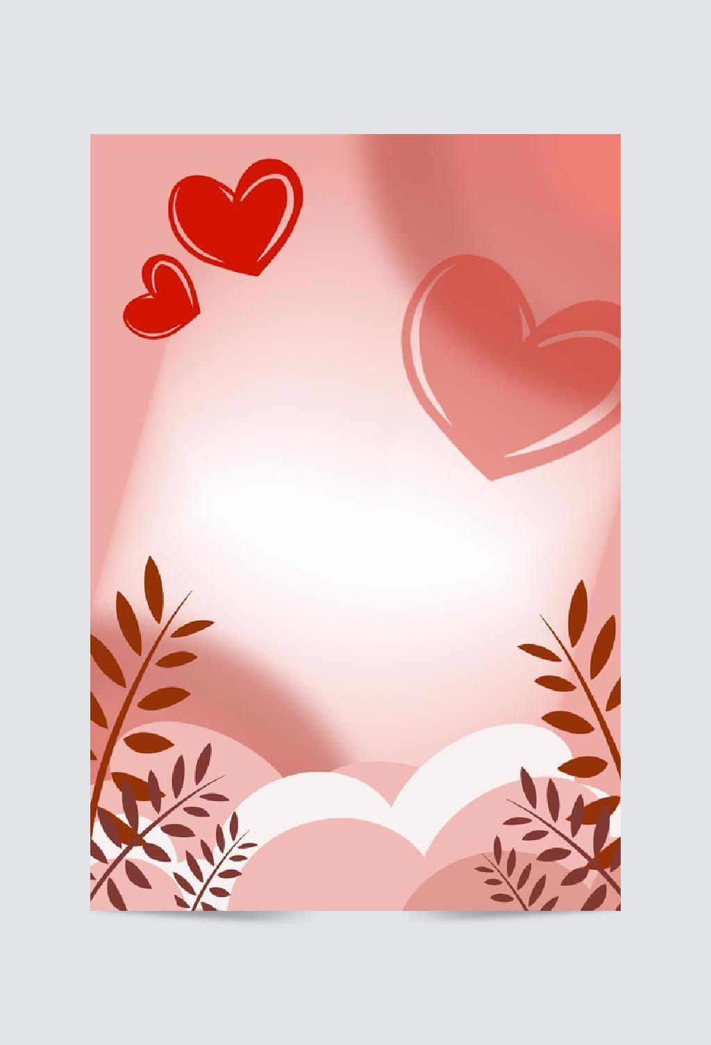 原创手绘红色情人节背景素材