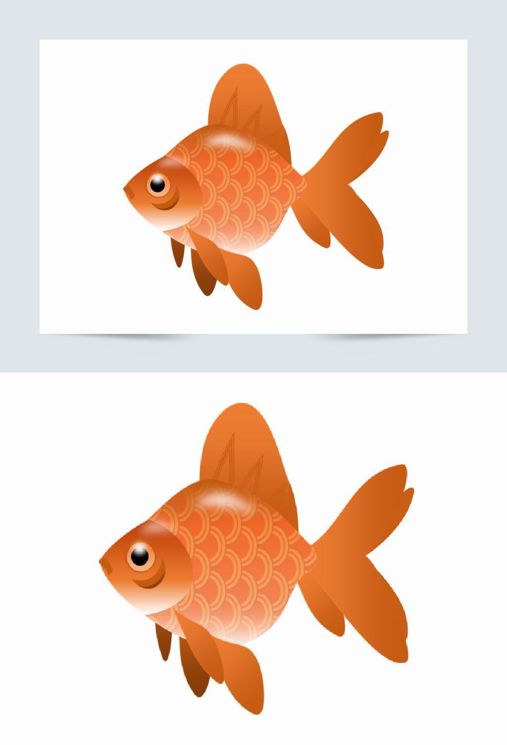 创意可爱卡通手绘鲤鱼