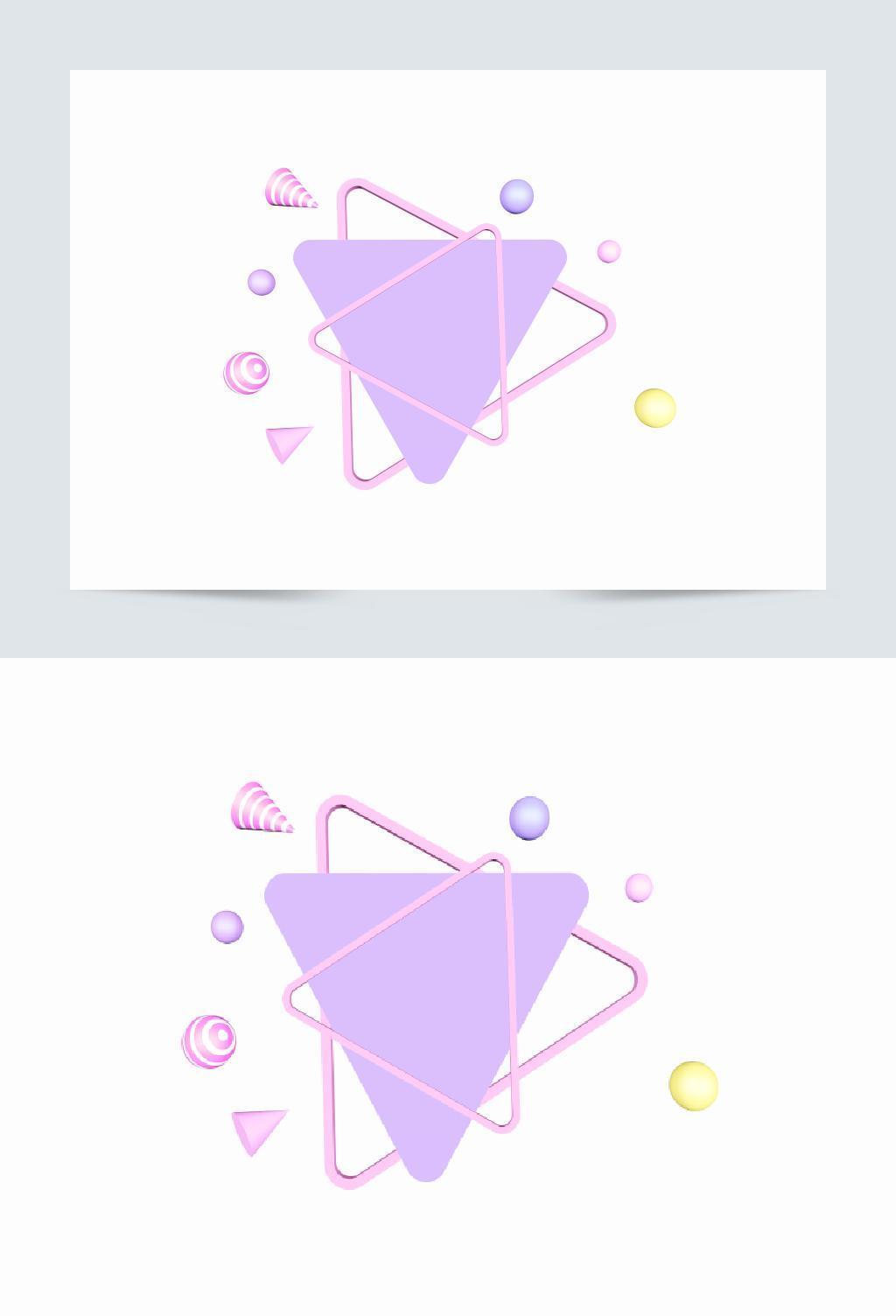 电商c4d粉紫色三角形立体背景舞台