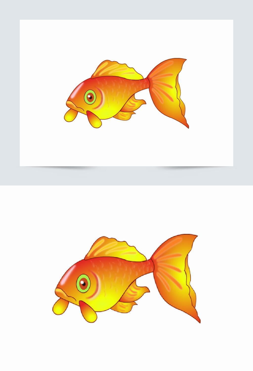 创意可爱卡通手绘金鱼
