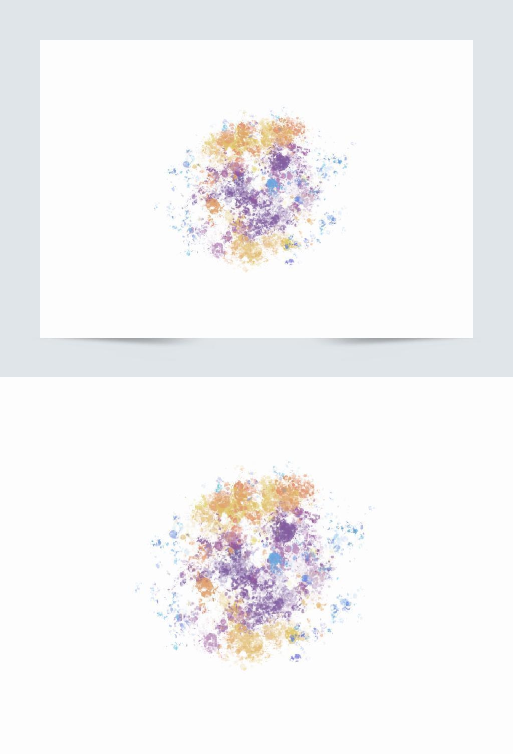 互联网海报简约艺术彩色笔触喷溅喷绘效果