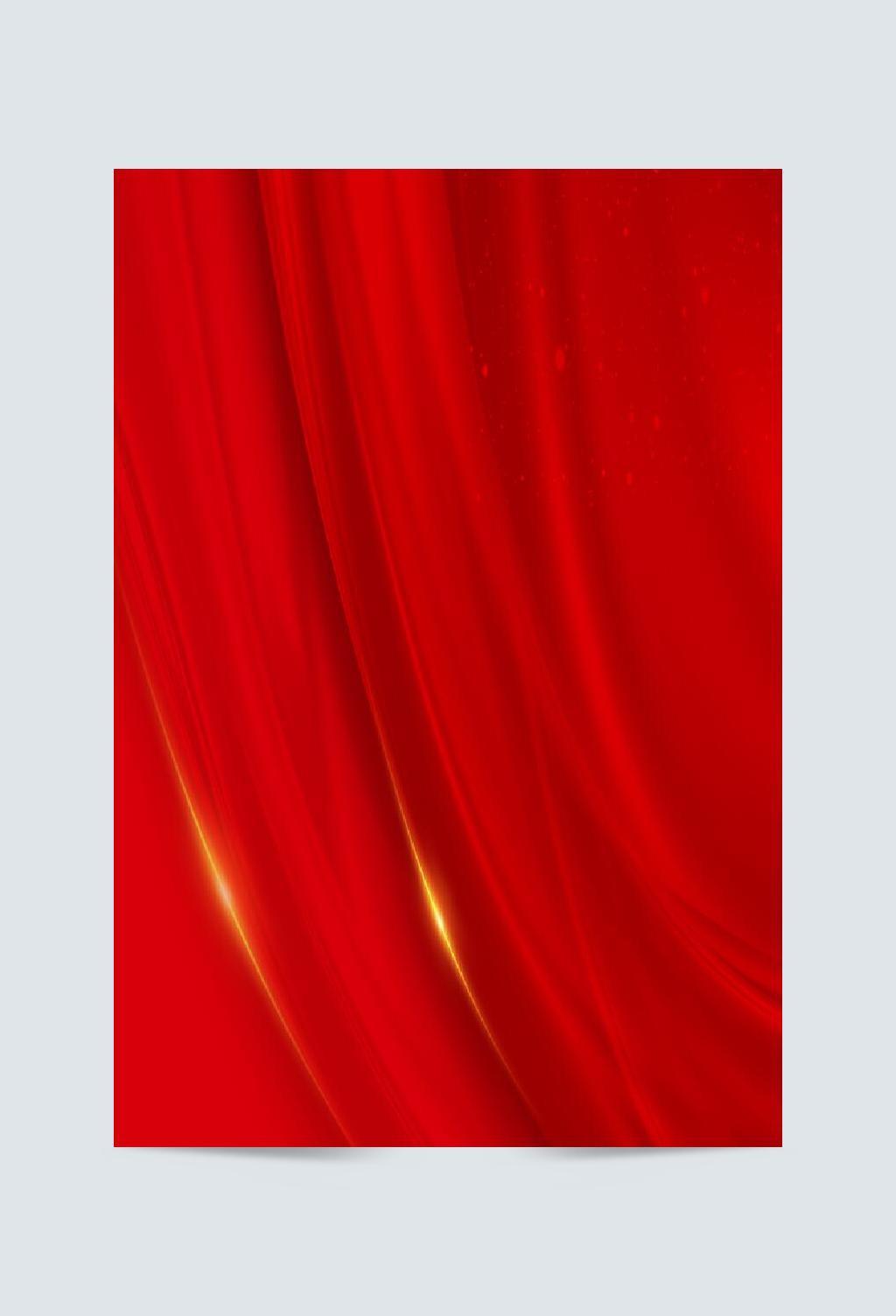 中国红丝绸效果节日背景素材