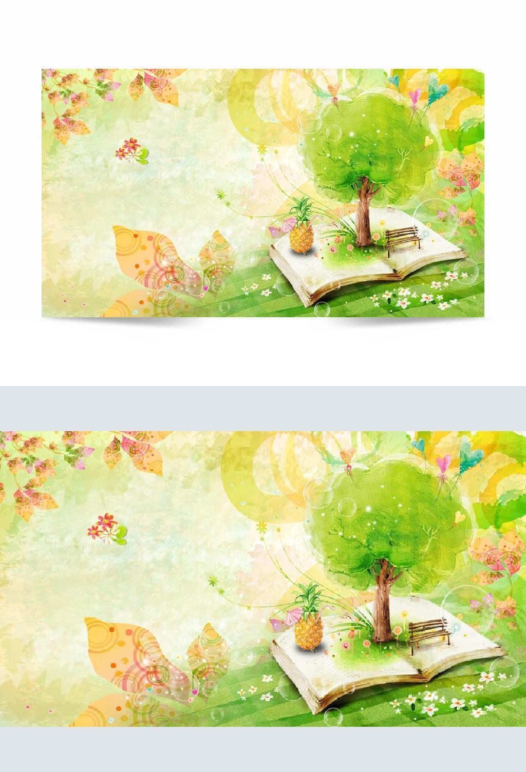 大树休闲书籍背景