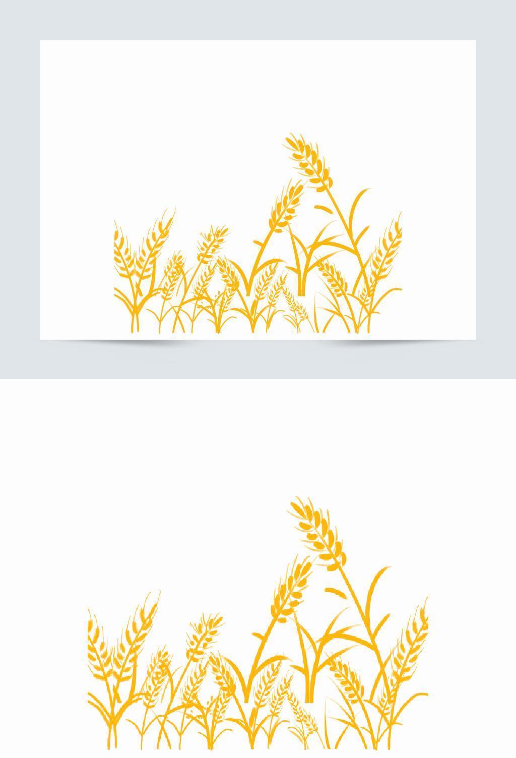 创意可爱卡通手绘麦穗