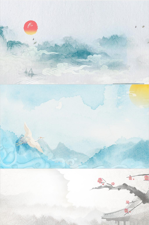 水墨中国风主题系列PPT背景